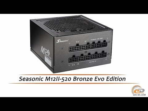 Seasonic M12II-520 Bronze Evo Edition - видеообзор блока питания