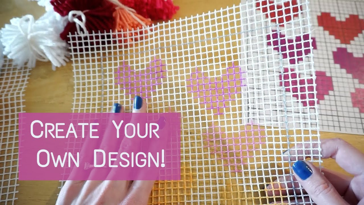 Diy Latch Hook Kit Create Your Own Design Knitting House Square Youtube