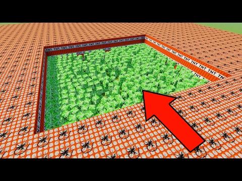 10,000 TNT VS 1000 CREEPERS ! | Minecraft