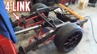 Drift Truck gets a CUSTOM 4 LINK REAR SUSPENSION! (Lots of Fabrication)