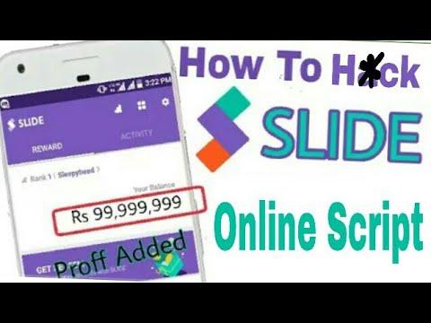 slide app online script unlimited trick earn 500 paytm cash