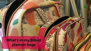 what's in my travel planner bags