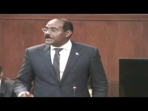 Antigua's Prime Minister Hon. Gaston Browne addresses Sandals issue in Parliament