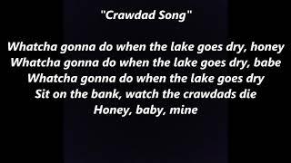 CRAWDAD SONG CRAWFISH LYRICS WORDS BEST TOP POPULAR FAVORITE TRENDING SING ALONG FOLK SONGS