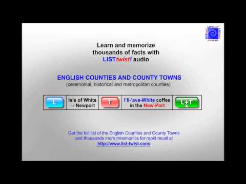 Memorize the English Counties and County Towns