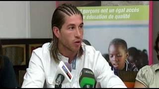 FIFA World Cup 2010 champion Sergio Ramos of Spain inspires children in Senegal