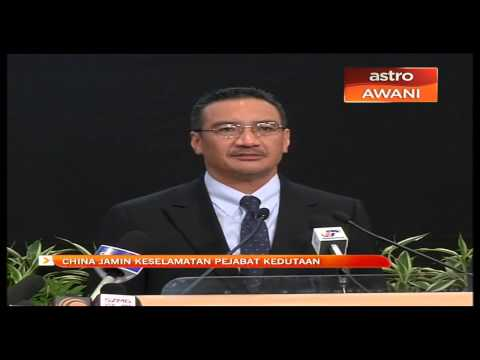 China jamin keselamatan pejabat kedutaan