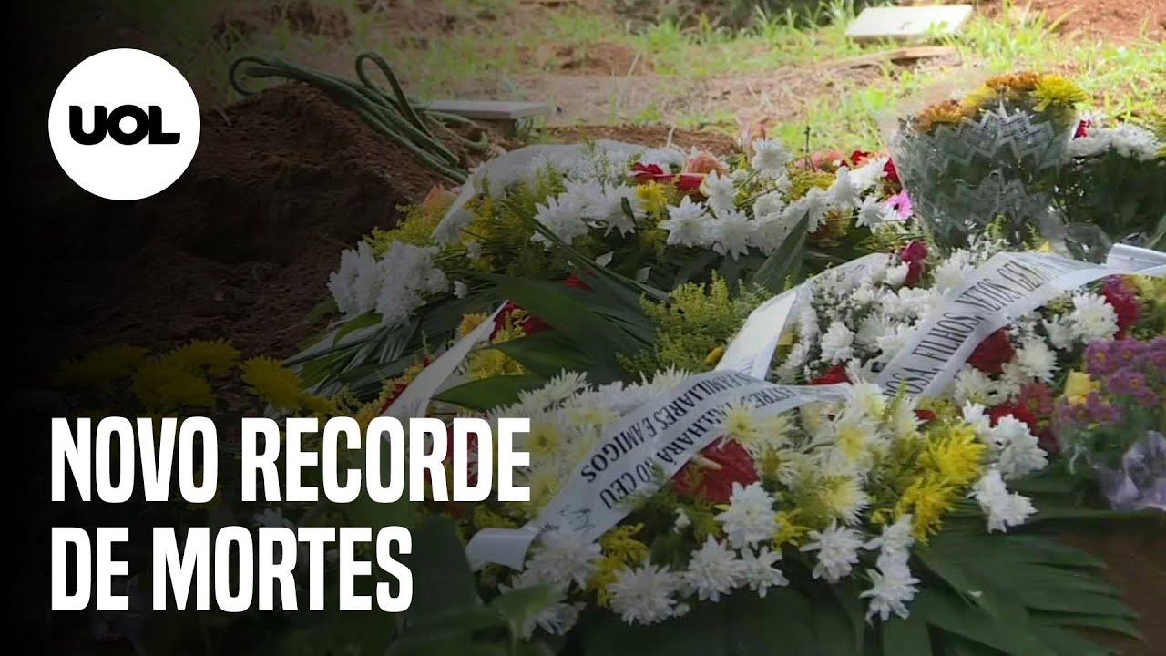 Brasil registra mais de 10 mil mortes por covid-19 em 7 dias