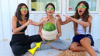تحدي البطيخ و المطاط | نارين سيدرا و شيرين