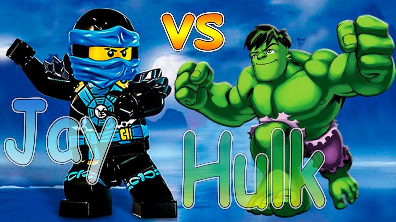 JAY vs HUKL! Lego ninjago jay hulk funny battle! Лего ...