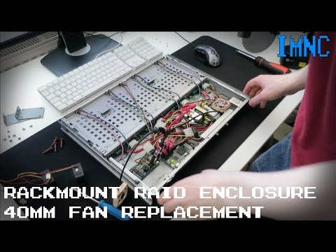 Silencing My 1U Rackmount RAID Enclosure | IMNC