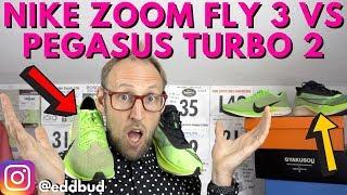 Nike Zoom Fly 3 vs Pegasus Turbo 2 comparison | eddbud