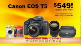 Canon EOS T5 for $549 at Woodland Hills Camera and Telescopes!