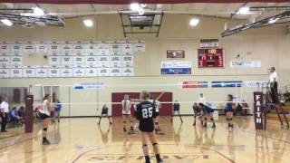 Volleyball1on1 High School Volleyball Coaching Match Video Review   10 13 16