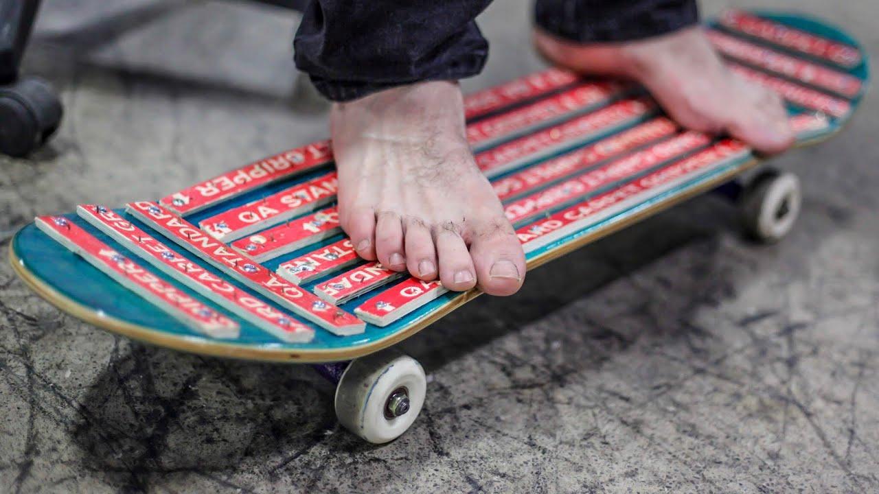 Carpet Nail Skateboard   You Make it We Skate it Ep. 233