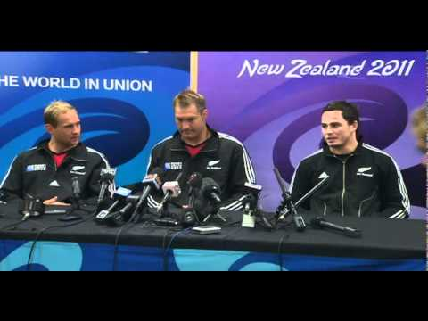 Aaron Cruden first training with All Blacks