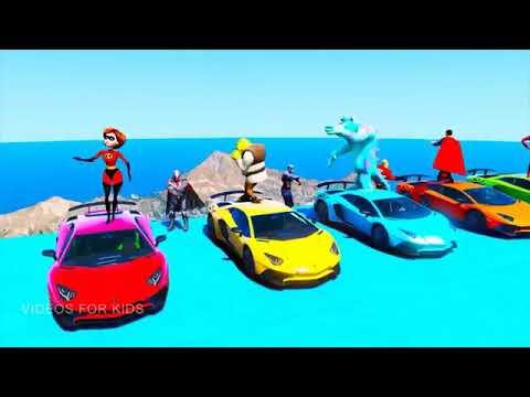 Kartun Mobil Anak Belajar Mengenal Warna Seru 8