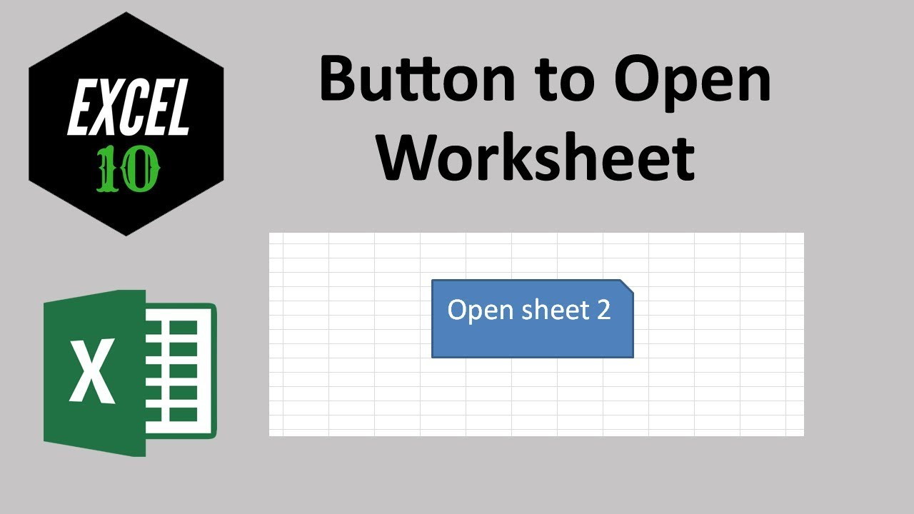 how to create a button in excell