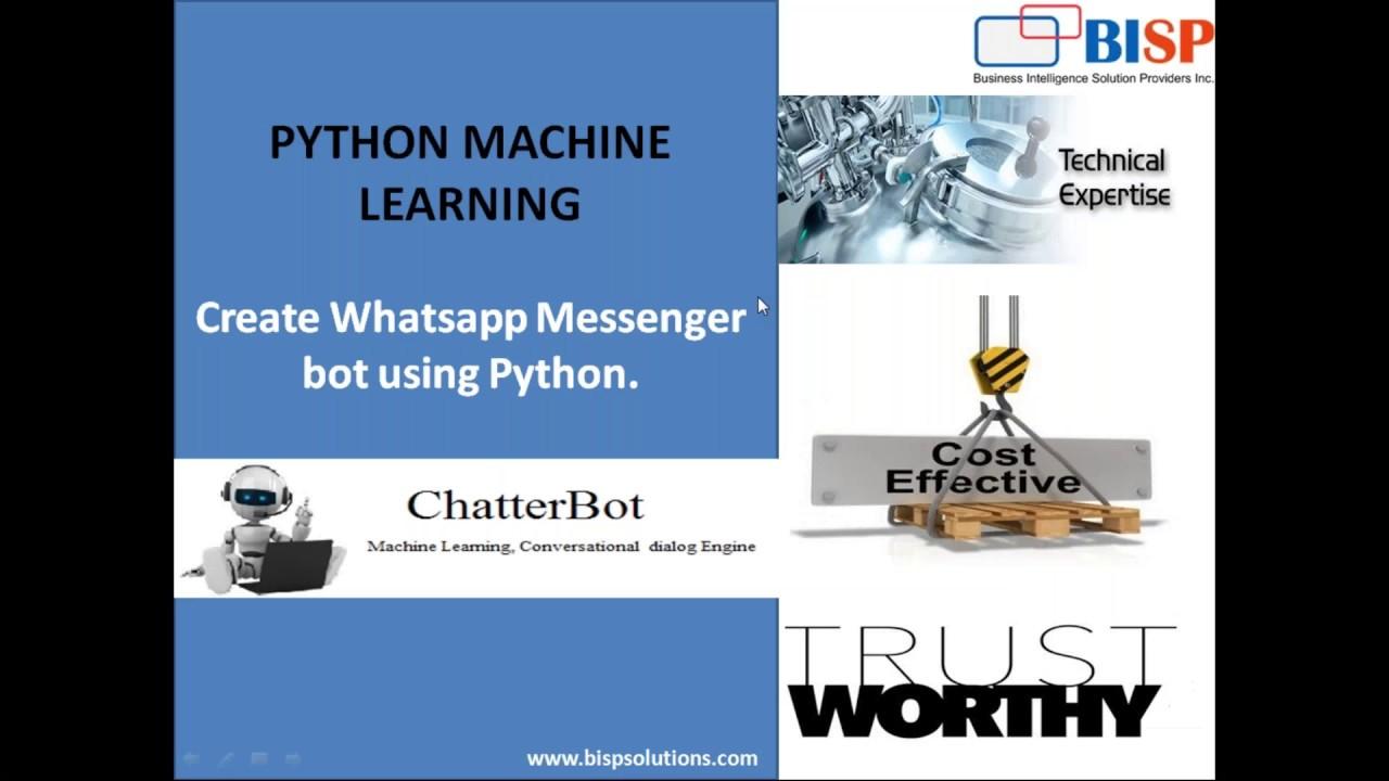 Python Whatsapp ChatterBot | Whatsapp Chatbot | Python Whatapp integration