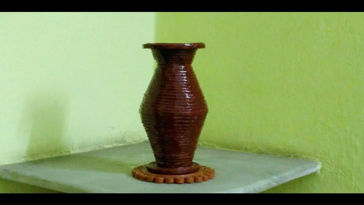 How to make a newspaper flower vase unique youtube how to make a newspaper flower vase unique reviewsmspy
