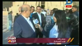 فيديو.. وزير السياحة من أسوان: مصر بلد الأمن والأمان