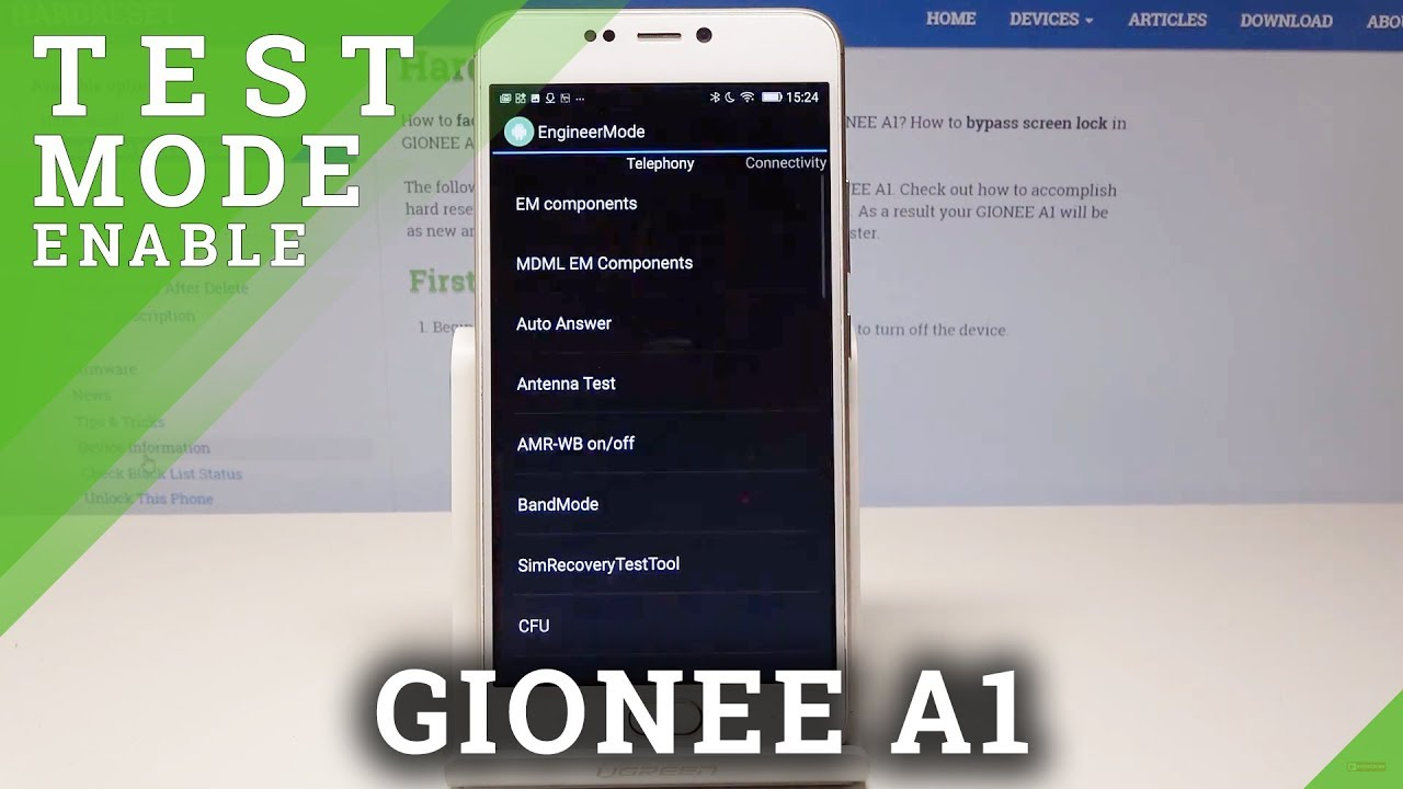 Engineer Mode in GIONEE A1 - Open Service Menu