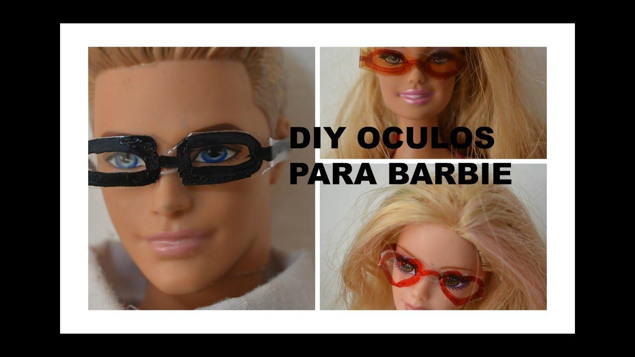 c6e66715b Como fazer oculos para as nossas bonecas Barbie e MH oculos de sol e de grau