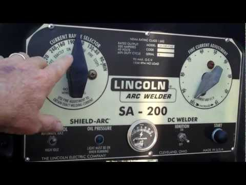 Lincoln Arc Welder SA-200 Portable Unit Ben Diaz Welding