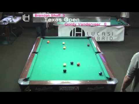 2010 Texas Open 9 Ball - Brandon Shuff vs. Gordy Vanderveer