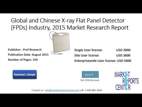 X-ray Flat Panel Detector (FPDs) Industry, 2015 Market Research Report