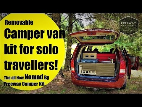 Camper Van kit For Solo travellers, The Nomad by Freeway Camper Kit!!