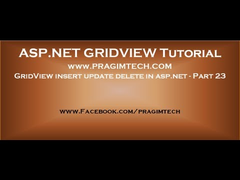 GridView insert update delete in asp.net - Part 23
