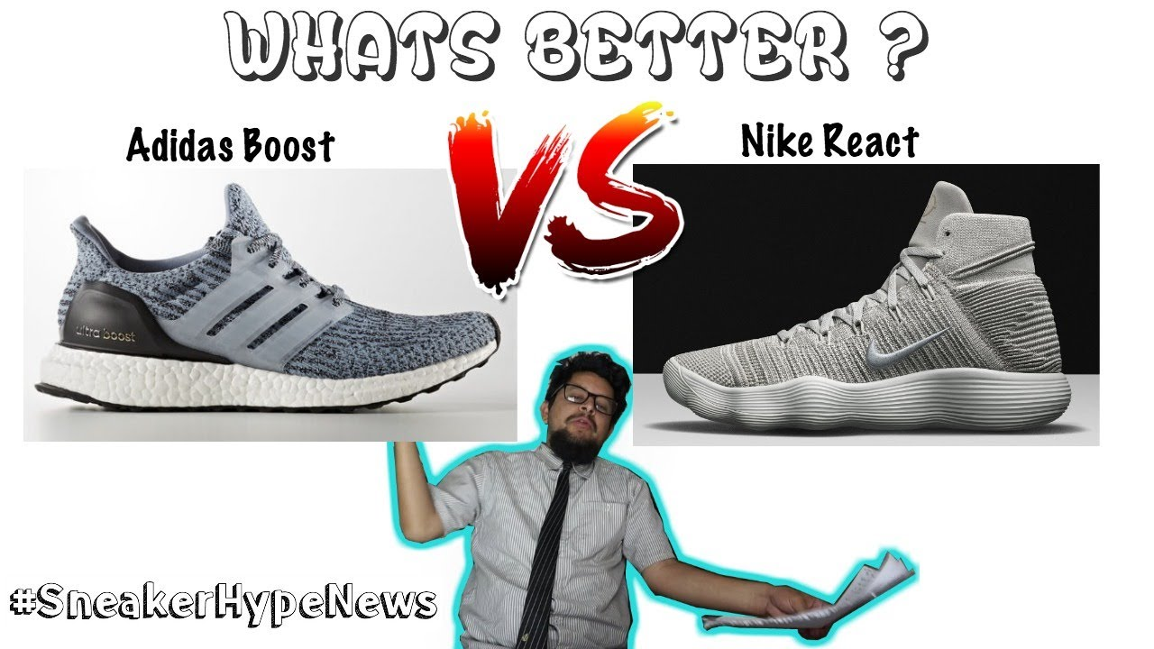 94486241e06b34 WTF is Nike React   is it Better Then Adidas Boost ! ! ... and more on  Sneaker Hype News