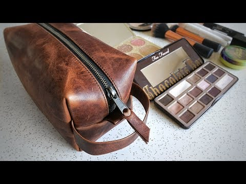 Can a Dopp Kit Work for Women? What's in my Makeup Bag? - OLPR Dopp Kit