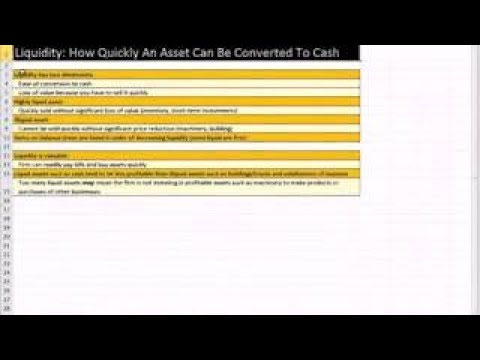 Excel Finance Class 09: Balance Sheet, Working Capital, Liquidity, Debt, Equity, ket Va