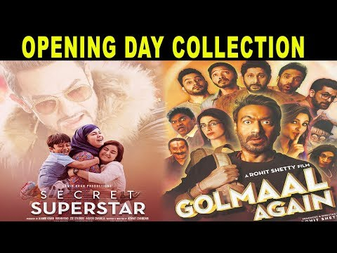 Golmaal Again और Secret Superstar Opening Day Collection | Aamir Khan | Rohit Shetty | Ajay Devgn