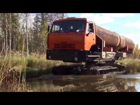 Industrie Russland / Track Vehicle Carrier Kamaz - Pipe Truck