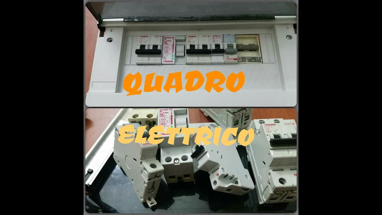 Schema Quadro Elettrico Per Appartamento : Quadro elettrico è fatto e come collegarlo youtube