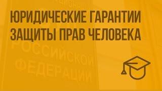 Юридические гарантии защиты прав человека. Видеоурок по обществознанию 9 класс