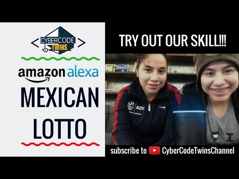 Try out our Amazon Alexa Skill: Mexican Lotto