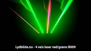 4 veis laser rød/grønn B009