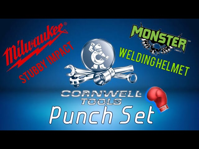 cornwell monday, monster tools, milwaukee stubby, punch set and ...