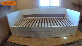 Кровать с шухлядами . Покраска, сборка, обзор(размеры).