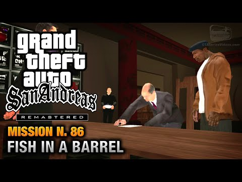 GTA San Andreas Remastered - Mission #86 - Fish in a Barrel (Xbox 360 / PS3)