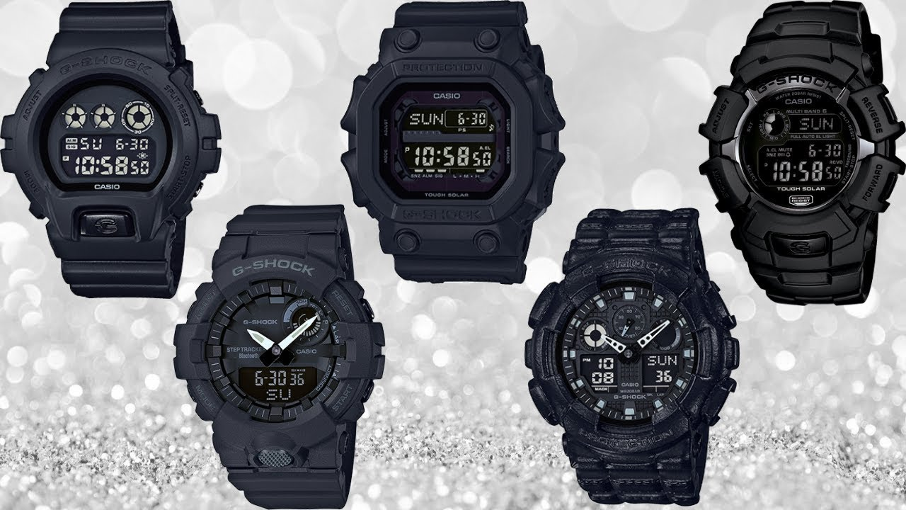 Part 3 All Black G Shock Watches