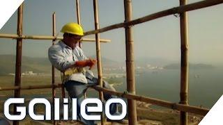Die 5 wichtigsten Dinge eines Bambusgerüstbauers | Galileo | ProSieben