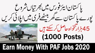 Make money online With PAF Jobs 2020 - Earn money online without investment | Earn Money Online 2020