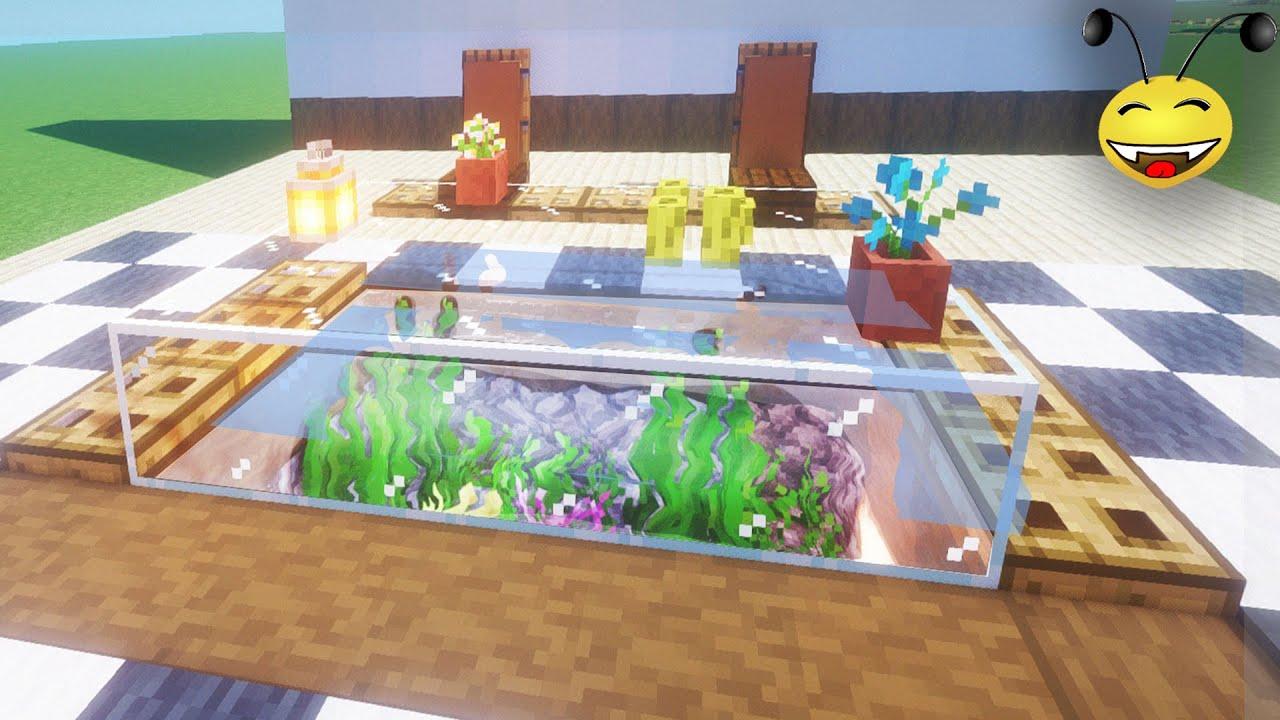 🐋 The Table-Aquarium Design / Minecraft Interior Tutorials