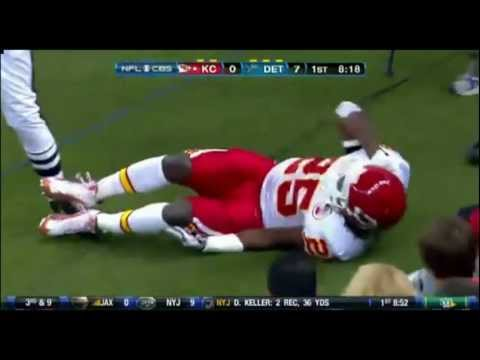 Jamaal Charles Tears his ACL While Playing Against the Detroit Lions