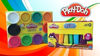 play doh rainbow case of colours massinhas cores do arco ris playdough unboxing